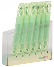 Двувръх текст маркер APLI Candy - Зелен неон -1