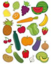 Комплект стикери APLI - Плодове и зеленчуци, 60 броя -1