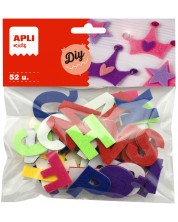 Букви от филц APLI - Самозалепващи, 52 броя -1