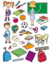 Комплект стикери APLI - Училище, 75 броя -1