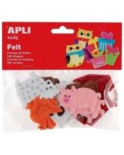 Комплект фигурки Apli - Животни, от филц, 18 броя