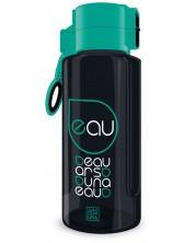 Бутилка за вода Ars Una - Черна, 650 ml -1