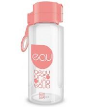 Бутилка за вода Ars Una - Бледорозова, 650 ml -1