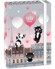 Кутия с ластик Ars Una Think Pink А4 - Котенца с балони -1