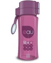 Бутилка за вода Ars Una - Тъмнорозова, 450 ml -1