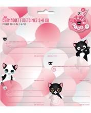 Ученически етикети Ars Una Think Pink - 18 броя -1