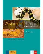Aspekte junior C1 Medienpaket (4 Audio-CDs+Video-DVD) -1