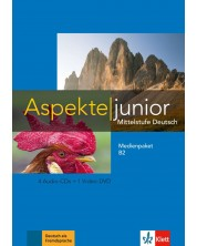 Aspekte junior B2 Medienpaket (4 Audio-CDs+Video-DVD)