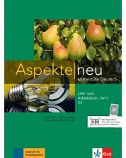Aspekte Neu C1: Lehr-und Arbeitsbuch Teil 1 + CD / Немски език - ниво С1: Учебник и учебна тетрадка + CD (част 1) -1