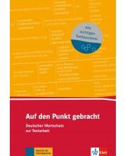 Auf den Punkt gebracht Deutscher Wortschatz zur Textarbeit