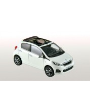 Авто-модел Peugeot 108 Electric   2014 - Banquise White & Purple Red -1