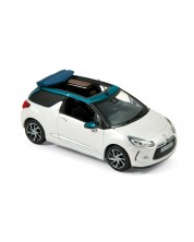Авто-модел Citroën DS 3 Cabrio 2015 - Nacré White & Emeraude -1