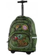 Ученическа раница на колелца Cool Pack Starr - Badges G Green