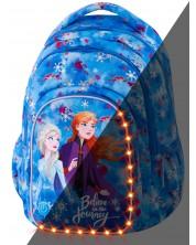 Ученическа светеща LED раница Cool Pack Spark L - Frozen 2, тъмносиня