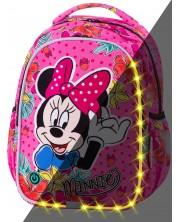 Ученическа светеща LED раница Cool Pack Joy S - Minnie Mouse Tropical