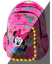 Ученическа светеща LED раница Cool Pack Spark L - Minnie Mouse Tropical
