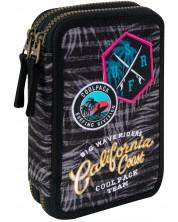 Несесер с ученически пособия Cool Pack Jumper 2 - Badges G Grey -1