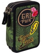 Несесер с ученически пособия Cool Pack Jumper 3 - Badges G Green -1
