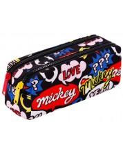 Правоъгълен ученически несесер Cool Pack Edge - Mickey Mouse, с 2 ципа