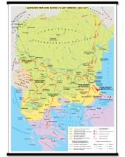 България при княз Борис I и цар Симеон (852-927) - стенна карта
