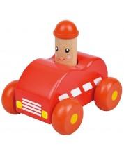 Бебешка играчка Lelin - Количка, със звук Бийп, червена -1