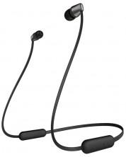 Безжични слушалки с микрофон Sony - WI-C310, черни -1
