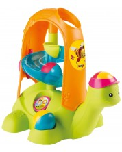 Бебешка играчка Smoby Cotoons - Костенурка с писта и цветни топки -1