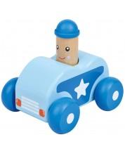 Бебешка играчка Lelin - Количка, със звук Бийп, синя -1