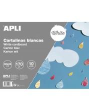 Блокче за рисуване Apli - Бяло, 10 листа