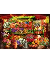 Пъзел Bluebird от 1000 части - Пазар за цветя, Чиро Марчети