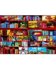 """Пъзел Bluebird от 1000 части - Секция """"Пътешествия"""" в библиотеката -1"""