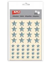 Комплект стикери Apli - Звездички, звезден прах, 3 листа
