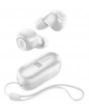 Безжични слушалки Cellularline - Pick, TWS, бели -1