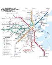 Пъзел New York Puzzle от 500 части - Транспортна карта, Бостън -1