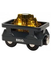 Играчка от дърво Brio World - Вагонче със злато