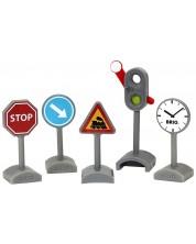 Игрален комплект Brio World - Пътни знаци -1