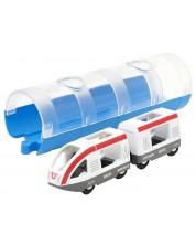 Играчка Brio World - Пътнически влак и тунел