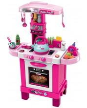 Детска индукционна кухня Buba - Розова, със звук и светлина -1