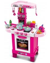 Детска кухня Buba - Розова, с аксесоари -1
