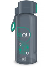 Бутилка за вода Ars Una - Сива, 650 ml -1
