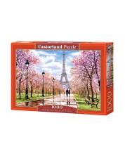 Пъзел Castorland от 1000 части - Романтична разходка в Париж, Ричард Макнийл