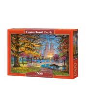 Пъзел Castorland от 1500 части - Есенна разходка, Сентръл Парк