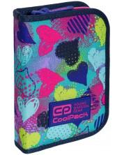 Ученически несесер Cool Pack Clipper - Hearts Graffiti -1