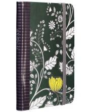 Тефтер с ластик Carny - A6, 80 листа, тъмнозелен