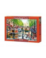 Пъзел Castorland от 1000 части - Пейзаж в Амстердам