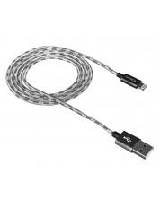 Кабел Canyon Lightning USB за Apple - braided,1m, сив -1