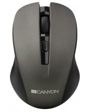Мишка CANYON CNE-CMSW1 - оптична, безжична, сива -1