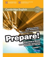 Cambridge English Prepare! Level 1 Teacher's Book with DVD and Teacher's Resources Online -1