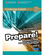 Cambridge English Prepare! Level 2 Teacher's Book with DVD and Teacher's Resources Online -1