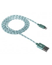 Кабел Canyon Lightning USB за Apple - braided, 1m, зелен